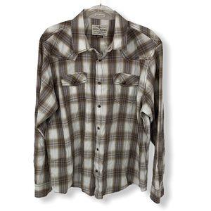Cody James Brown/Blue Plaid Button-Down Shirt XL